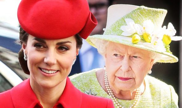 The Queen is keeping Kate under her wing Image c GETTY