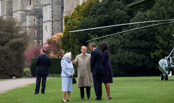 The Queen meeting Michelle and Barack Obama Image C GETTY