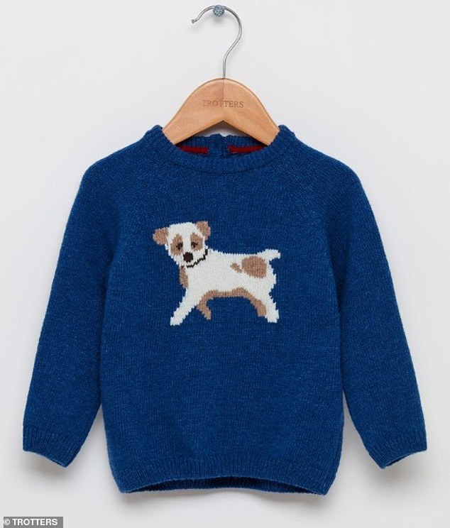 The jumper pictured was originally £ but was slashed to £ in an online sale It sold out less than hours after photographs of Prince Louis wearing the garment were released