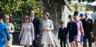 The royals step out on Easter Sunday for church Photo C GETTY IMAGES