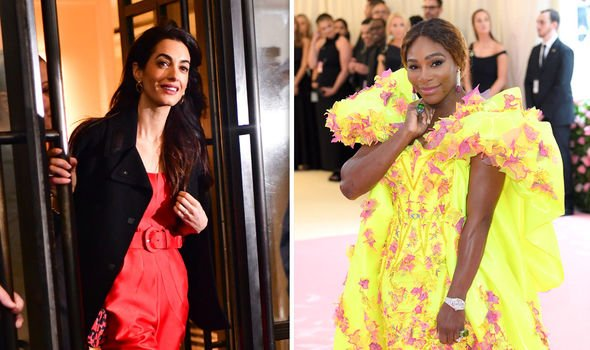 Amal Clooney left and Serena Williams were reported to have footed the bill for the Duchess Image Getty