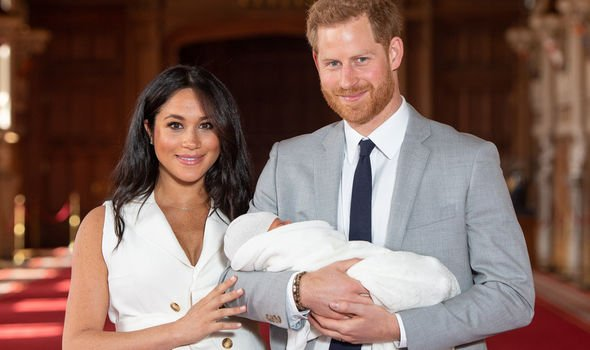 Archie Harrison name Meghan Markle and Prince Harry show off their son Archie at a photocall Image Getty