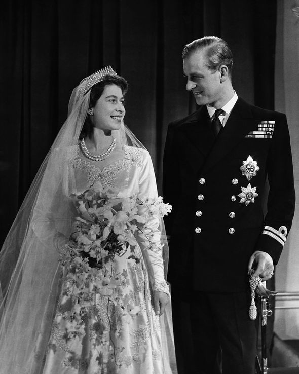 Archie Harrison name Queen Elizabeth II and Prince Philip on their wedding day Image Getty