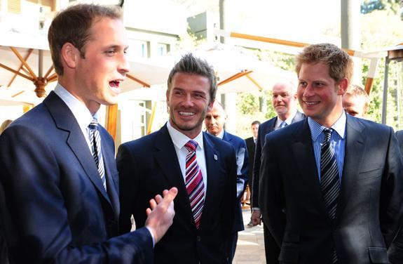 David Beckham Meets Prince William Prince Harry PHOTOS POLL