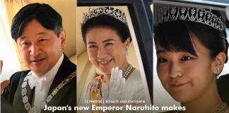 Japan's new Emperor Naruhito makes history at accession ceremony - best photos Getty Images C