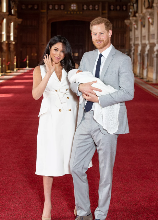 Harry And Meghan With Their Child Photo C Getty I