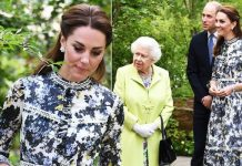 Kate Middleton and the Queen Chelsea Flower Show day out in £k Erdem look Image JAMES
