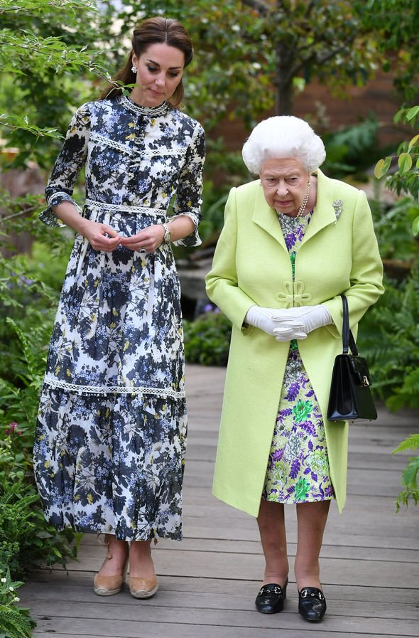 Kate Middleton and the Queen Kate wore a stunning Erdem dress which costs £ Image JAMES