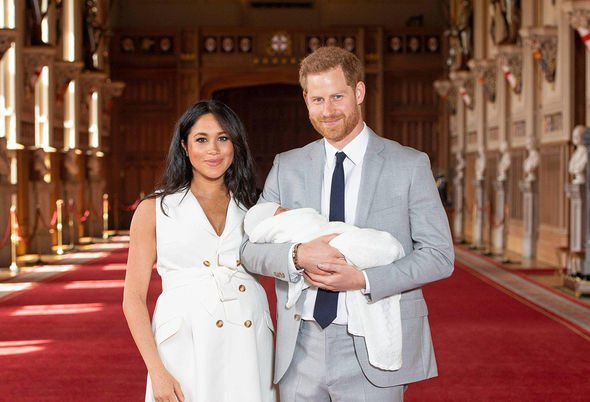 Kate Middleton children Prince Harry and Meghan Markle with Baby Archie who healed family rifts Image PA