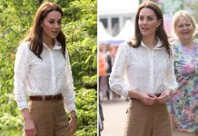Kate Middleton news Kate channelled nature as she wore beige trousers to Chelsea Flower Show Image WENN