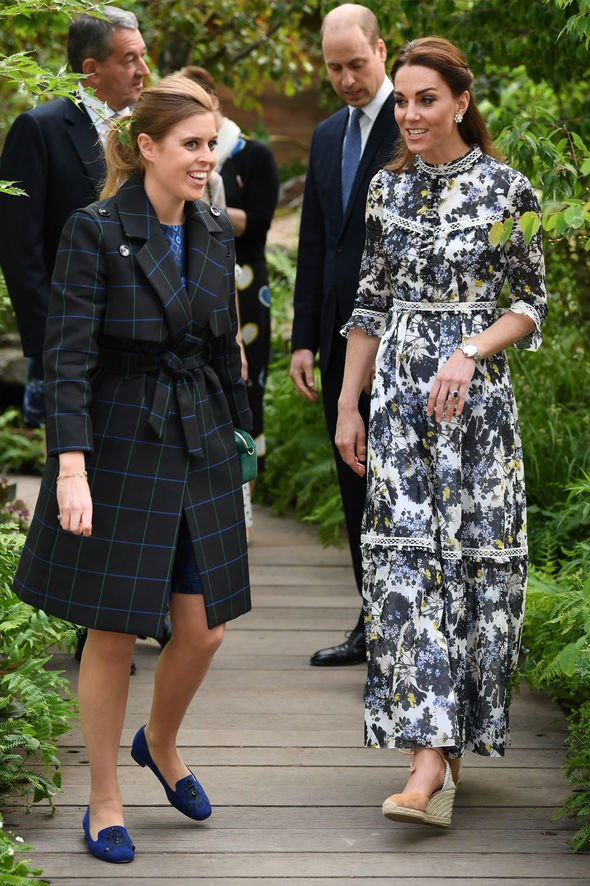 Kate Middleton news Princess Beatrice also attended the event in a black coat Image JAMES