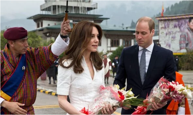 Kate and William went to India without their children George and Charlotte Image C GETTY