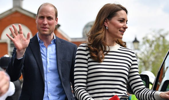 Kate and William were asked about Archie during their London visit Image GETTY