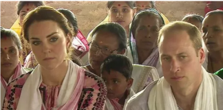 Kate and William were caught in the aftermath of a quake while touring India Image C YAHOO