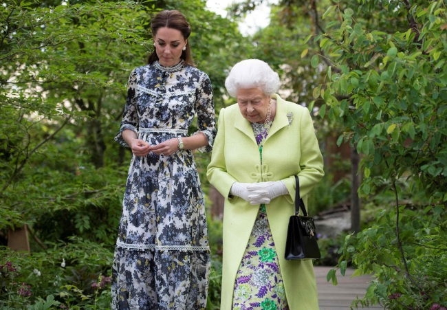 Kate called the Queen Your Majesty at the flower show Photo C Getty Images