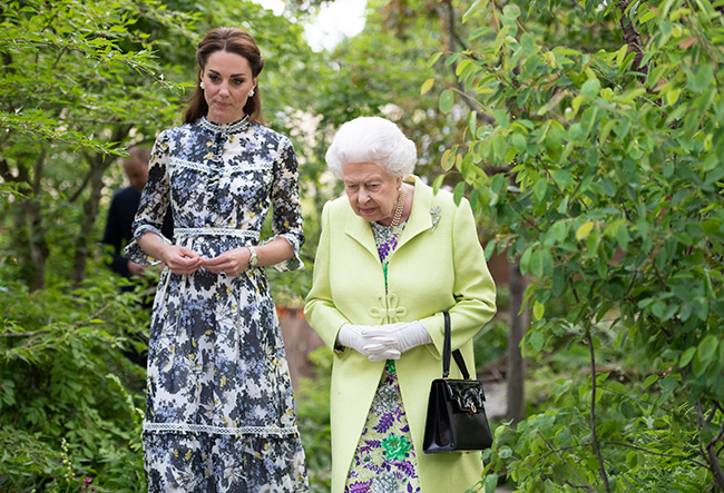 Kate gave the Queen a tour of her Back to Nature garden Photo C Getty Images
