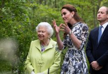 Kate greeted the monarch at the Chelsea Flower Show Photo C Getty Images