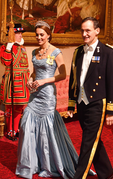 Kate will be able to wear the sash badge and star at formal royal occasions Photo C GETTY IMAGES