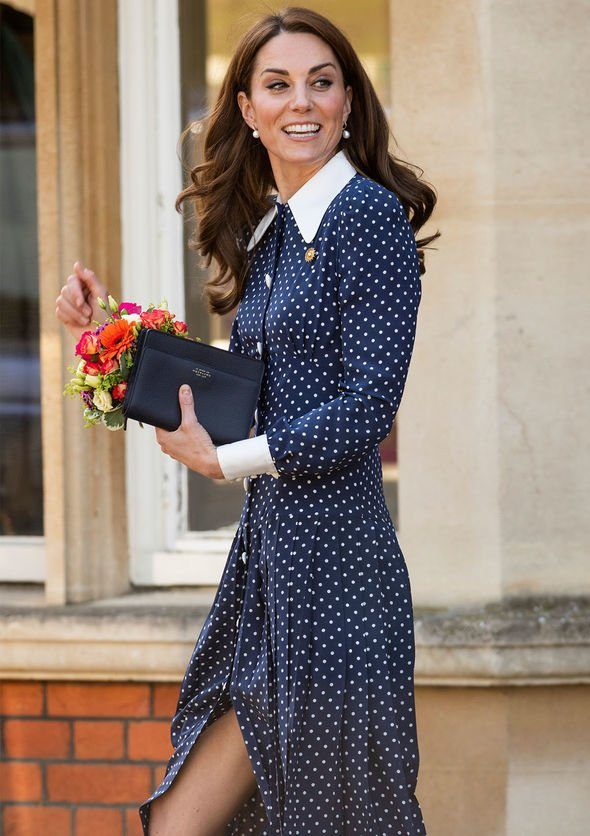 Kate wore a £ frock by designer Alessandra Rich Image GETTY