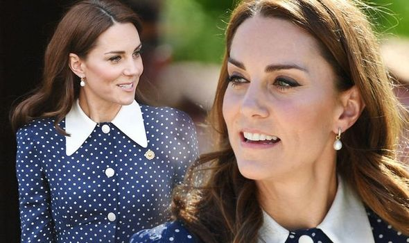 Kate wore a daring dress exposing her legs at Bletchley Park yesterday Image GETTY