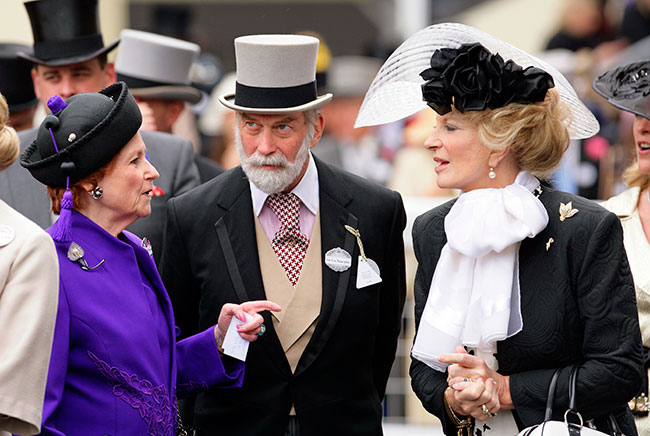Lady Elizabeth Anson pictures with Prince and Princess Michael of Kent Photo C Getty Iamges