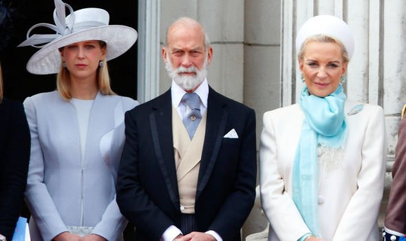 Lady Gabriella Windsor pictured with her parents Prince and Princess Michael of Kent Image Getty