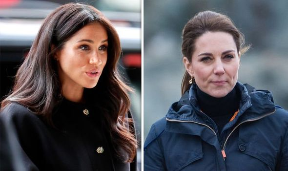 Meghan Markle and Kate Middleton were at the centre of Palace rumours Image Getty