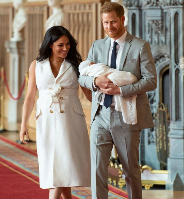 Meghan Markle and Prince Harry as they reveal baby Archie to the world Image GETTY