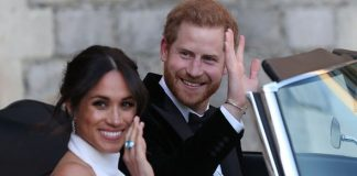 Meghan Markle and Prince Harry heading to Frogmore House on their wedding day Image GETTY