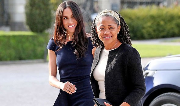 Meghan Markle with her mum Doria Raglan Image Press Association