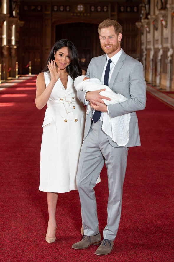 Meghan and Harry introduced Archie to the world at Windsor Castle Image GETTY