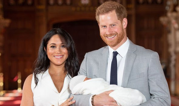 Meghan and Harry introduced Archie to the world last week Image GETTY