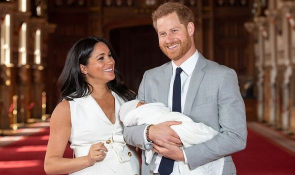 Meghan introduced Archie to the world last week Image GETTY