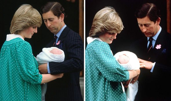 Ms James pointed out previous royals would let their wives hold the baby during press calls Image GETTY