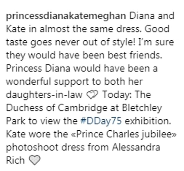 Praise Royal fans drew attention to how alike the royal women looked in the dresses