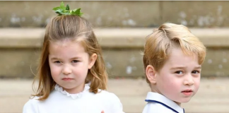 Prince George pictured with Princess Charlotte late last year Image C GETTY
