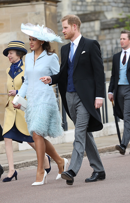 Prince Harry and Lady Frederick Windsor arrive to see Lady Gabriella marry Thomas Kingston Lady Frederick also known as actress Sophie Winkleman Photo C iimage