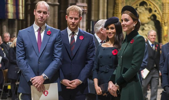 Prince Harry and William news With Meghan and Kate Image Getty