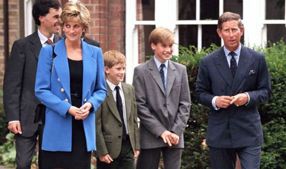 Prince Harry and William with their mother Diana and father Charles Image Express
