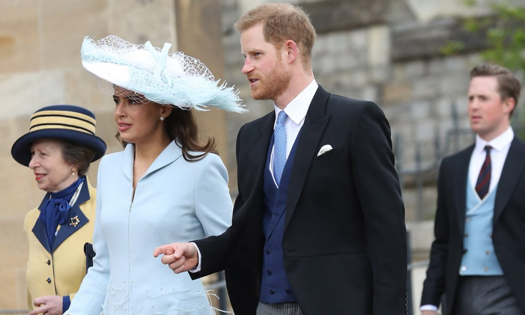 Prince Harry is a surprise guest at Lady Gabriella Windsors wedding Photo C GETTY IMAGES