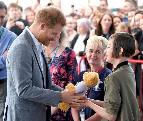 Prince Harry receives a cuddly companion for his son