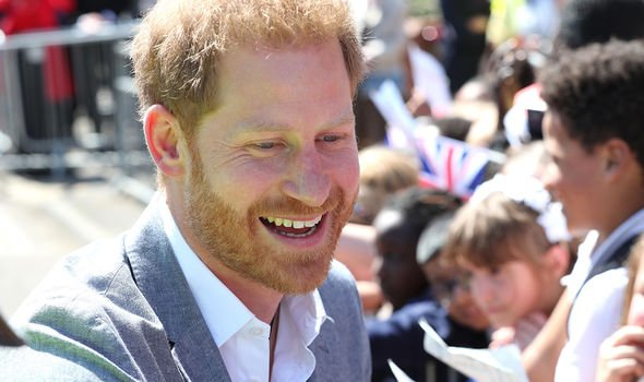 Prince Harry revealed his firstborn was a little overdue Image GETTY