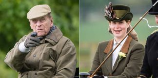 Prince Philip is very much the proud grandad as he watches Lady Louise compete Photo C GETTY IMAGES