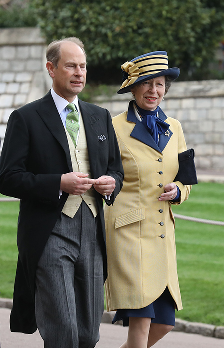 Princess Anne wore a chic mustard and navy coat and hat for the happy occasion Photo C iimage