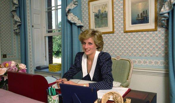 Princess Diana at home at Kensington Palace Image Getty
