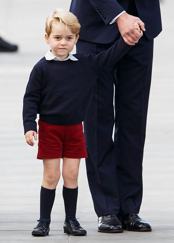 Princess Eugenie shock Adorable Prince George wearing shorts in keeping with royal dress codes Image GETTY