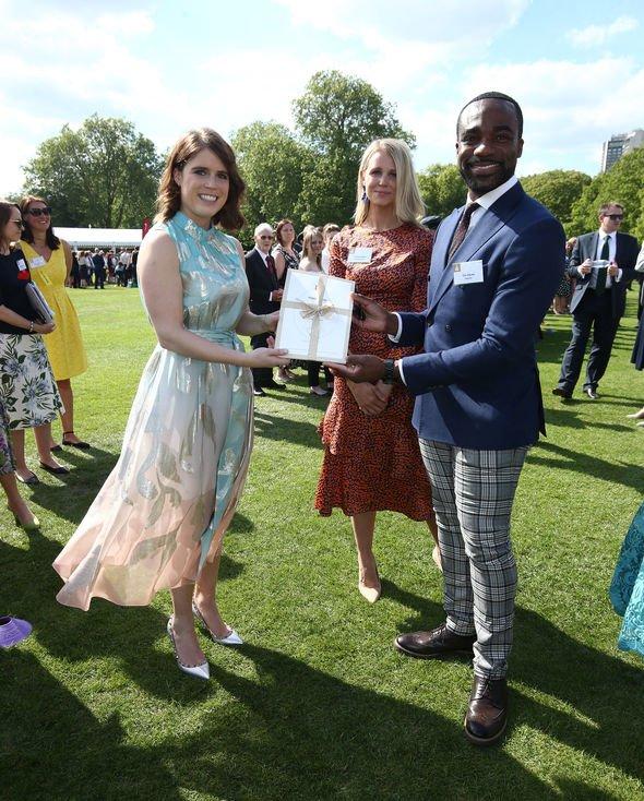 Princess Eugenie shock Eugenie at Duke Of Edinburgh Gold Award Presentations At Buckingham Palace Image GETTY
