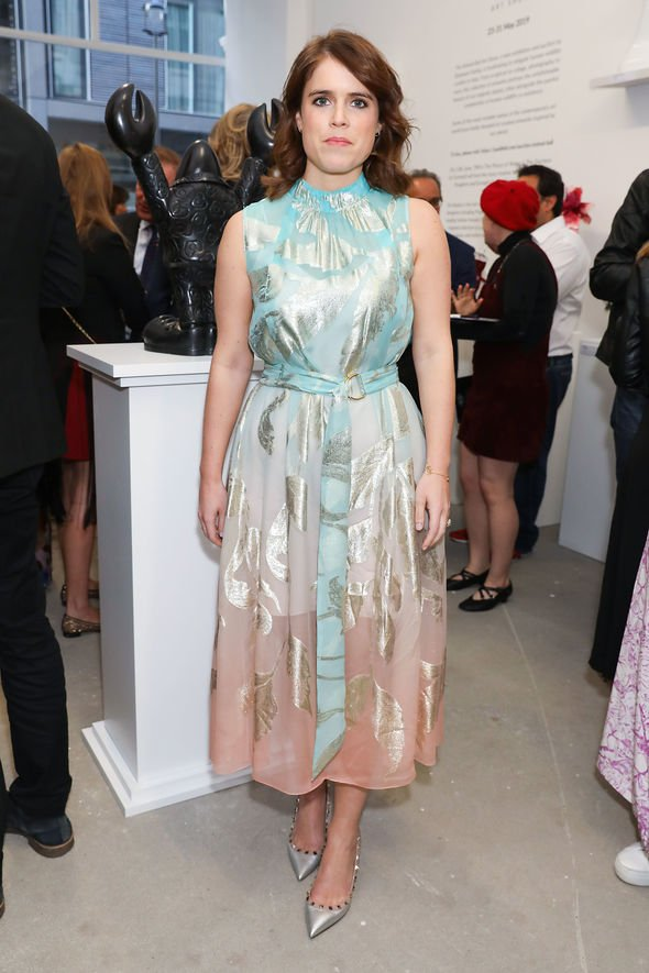 Princess Eugenie shock Eugenie in her rule breaking dress what do you think of her outfit Image GETTY