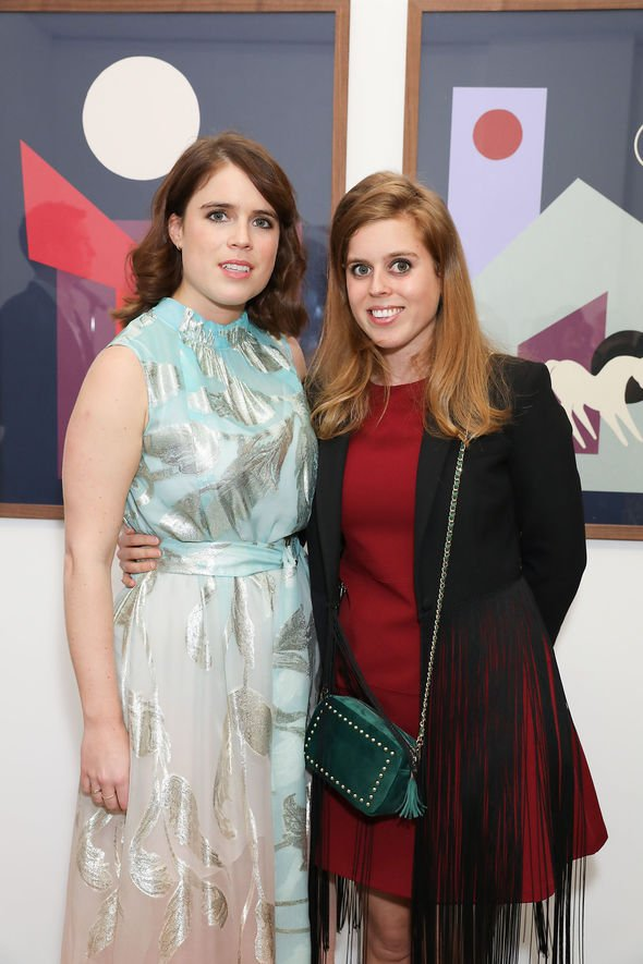 Princess Eugenie shock Princess Eugenie and Beatrice at Animal Art Ball event Image GETTY