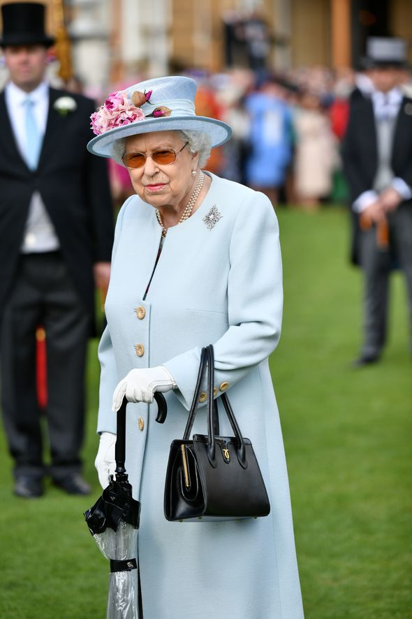 Princess Eugenie shock The Queen at the Buckingham Palace Garden party wearing a hat and gloves Image GETTY